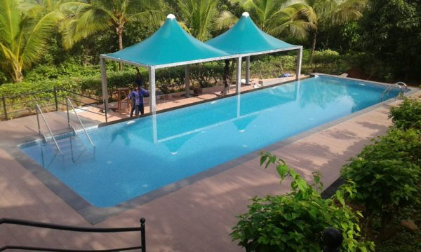 Swimming Pool Sides Shades - Trigon Structure